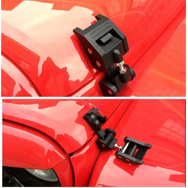 Metal Engine Hood Latch Lock Catches Kits for Jeep Wrangler JK Unlimited Rubicon 2008 2009 2010 1