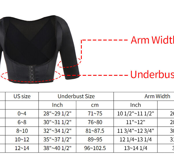 Miss Moly Invisible Arm Slimming Shaper Slimmer Chest Corrective Lifting Underwear plus size Shapewear Weight Loss 1 1