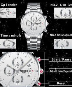 Mens Casual Quartz Chronograph Waterproof Watch, Mens Casual Quartz Chronograph Waterproof Watch