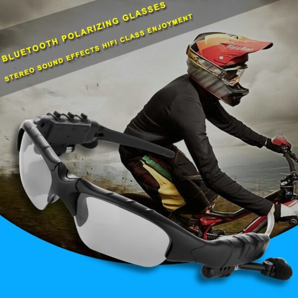 NO BORDERS Cycling Sunglasses Riding Bluetooth Earphone Smart Glasses Outdoor Sport Wireless Bike Sun Glasses Headphone 4