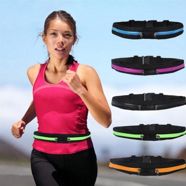 New Running Bag Waist Pocket Jogging Belt Sports Waterproof Travel Cycling Pack Bag Outdoor Phone anti 1
