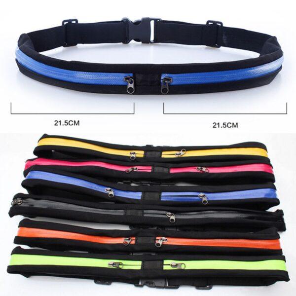 New Running Bag Waist Pocket Jogging Belt Sports Waterproof Travel Cycling Pack Bag Outdoor Phone anti 3