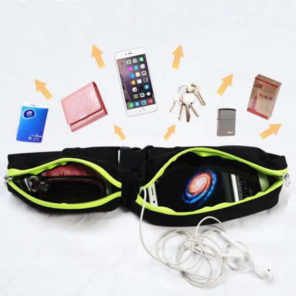 New Running Bag Waist Pocket Jogging Belt Sports Waterproof Travel Cycling Pack Bag Outdoor Phone anti 5