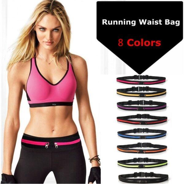 New Running Bag Waist Pocket Jogging Belt Sports Waterproof Travel Cycling Pack Bag Outdoor Phone anti
