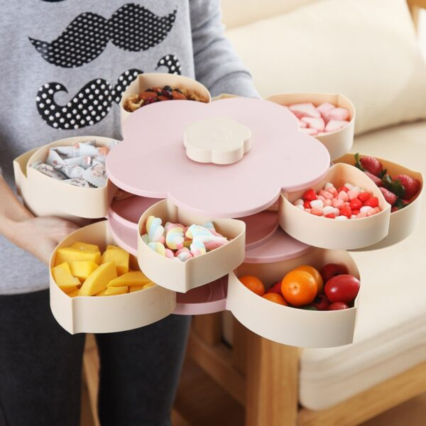 Newest Plastic Storage Box for Seeds Nuts Candy Dry Fruits Case Plum Type Lunch Container for 1