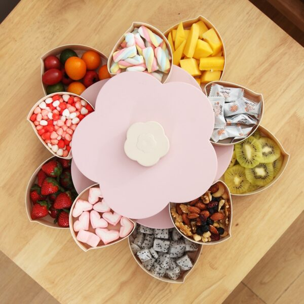Newest Plastic Storage Box for Seeds Nuts Candy Dry Fruits Case Plum Type Lunch Container for 3