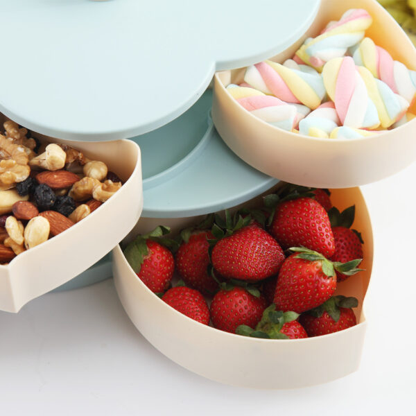 Newest Plastic Storage Box for Seeds Nuts Candy Dry Fruits Case Plum Type Lunch Container for 5
