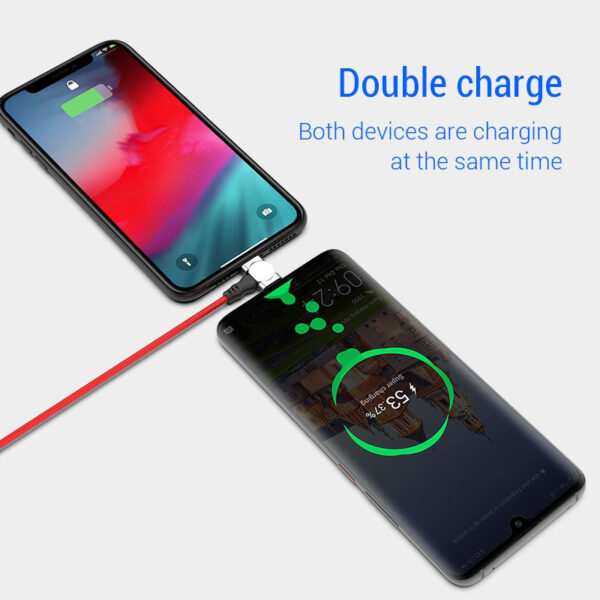 PZOZ Rotate 90 degree Magnetic USB Cable 5A Fast Charging USB C Charger Micro USB Type 1 1