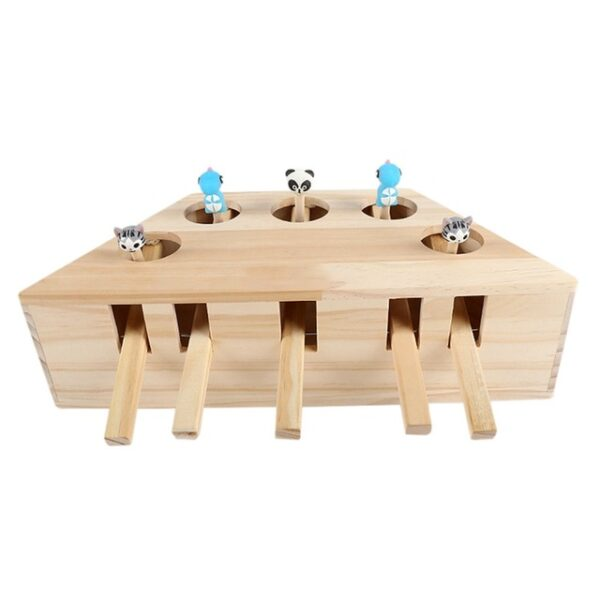 Pet Indoor Solid Wooden Exercise Toy Cat Interactive 5 holed Mouse Seat Scratch Bite Toys 3.jpg 640x640 3