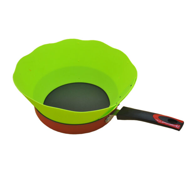 Specialty Tools Oil Barrier Cooking Silicone Pot Circle Anti Splashing Oil Baffle Kitchen Tool 2