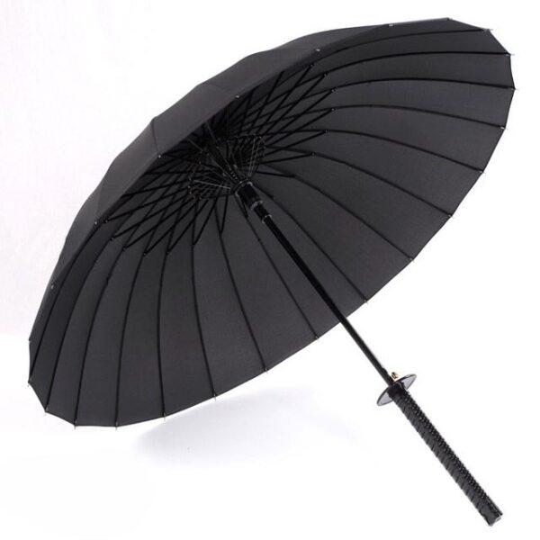 Stylish Black Japanese Samurai Ninja Sword Katana Umbrella Sunny Rainny Long handle Umbrellas Semi automatic 8 3.jpg 640x640 3