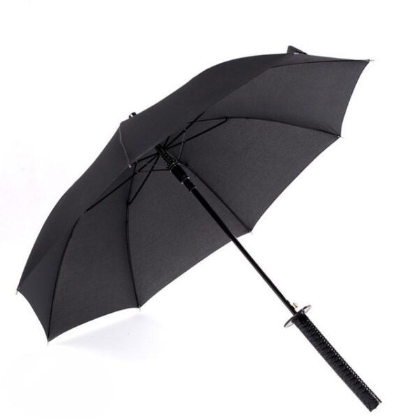 Stylish Black Japanese Samurai Ninja Sword Katana Umbrella Sunny Rainny Long handle Umbrellas Semi automatic 8 4.jpg 640x640 4