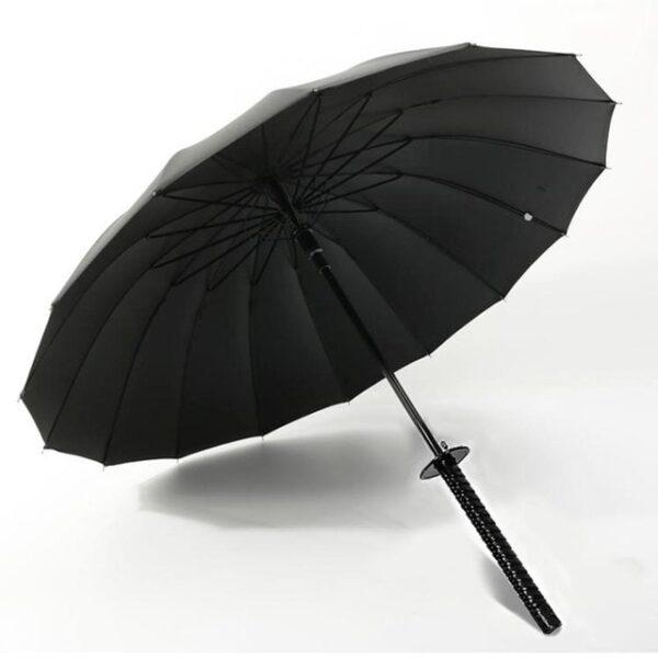 Stylish Black Japanese Samurai Ninja Sword Katana Umbrella Sunny Rainny Long handle Umbrellas Semi automatic 8 5.jpg 640x640 5
