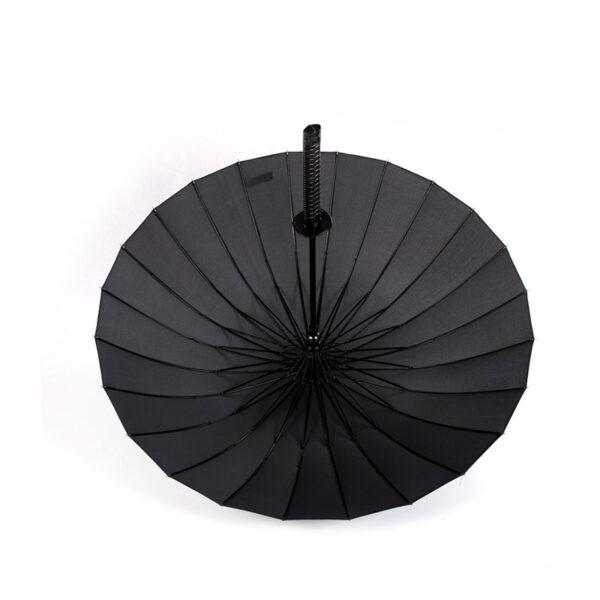 Stylish Black Japanese Samurai Ninja Sword Katana Umbrella Sunny Rainny Long handle Umbrellas Semi automatic 8 9
