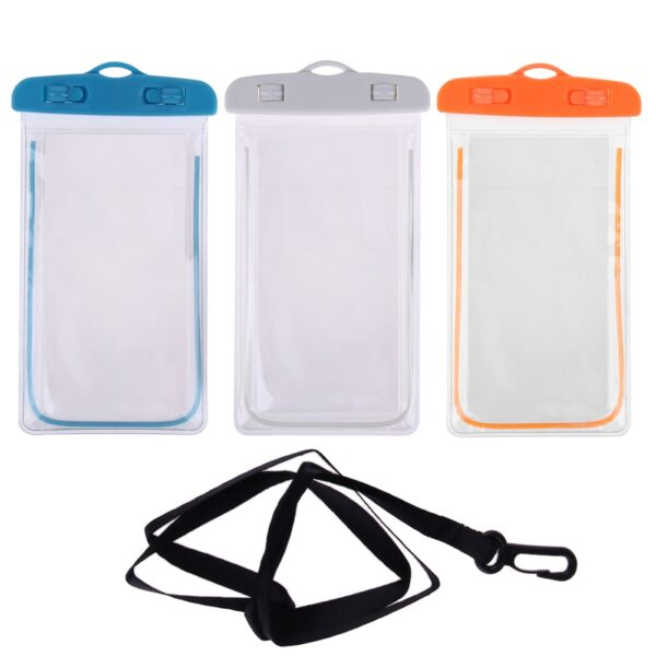 Swimming Bags Waterproof Bag with Luminous Underwater Pouch Phone Case For iphone 6 6s 7 universal 1