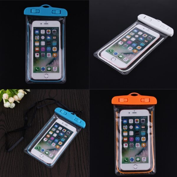 Swimming Bags Waterproof Bag with Luminous Underwater Pouch Phone Case For iphone 6 6s 7 universal 2