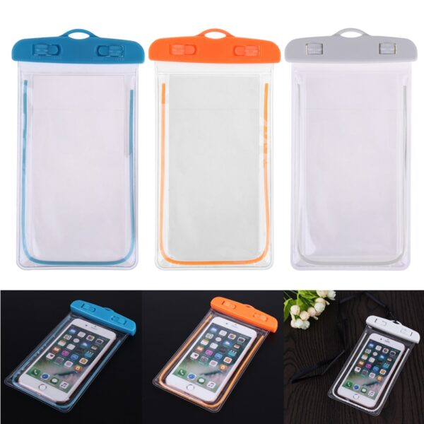 Swimming Bags Waterproof Bag with Luminous Underwater Pouch Phone Case For iphone 6 6s 7 universal 3