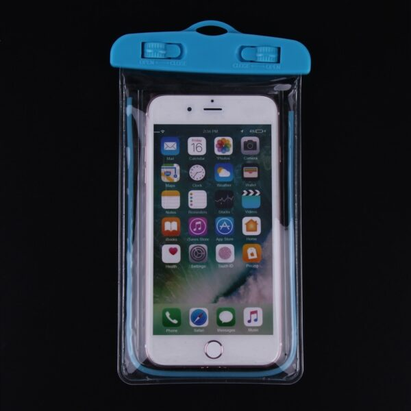 Swimming Bags Waterproof Bag with Luminous Underwater Pouch Phone Case For iphone 6 6s 7 universal 4
