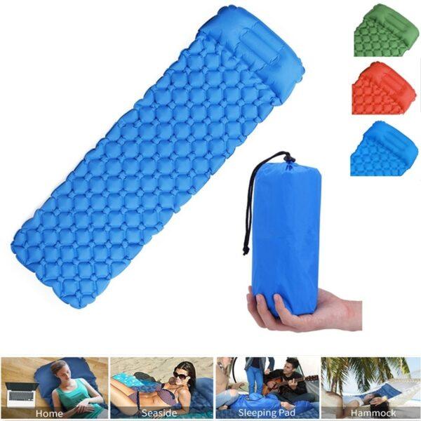 Ultralight Outdoor Inflatable Cushion Sleeping Pad Picnic Compact Camping Mat Air Pad for Camping Hiking Travel