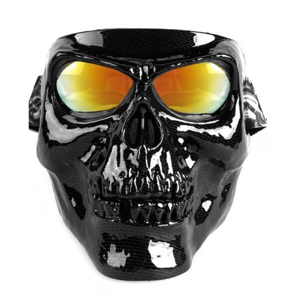Vintage Skull Motorcycle Glasses Detachable Modular Mask Motorcycle Goggles Mouth Filter Motocross Glasses Moto Helmet Glasses 1