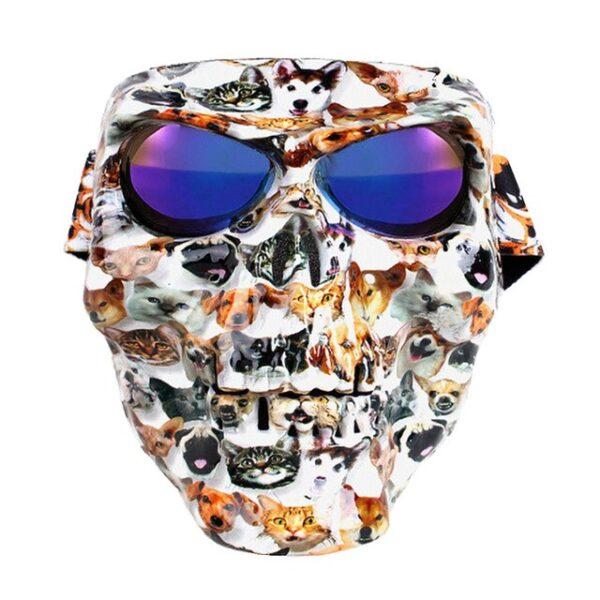 Vintage Skull Motorcycle Glasses Detachable Modular Mask Motorcycle Goggles Mouth Filter Motocross Glasses Moto Helmet Glasses 2.jpg 640x640 2