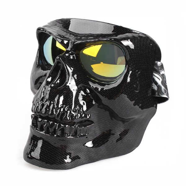 Vintage Skull Motorcycle Glasses Detachable Modular Mask Motorcycle Goggles Mouth Filter Motocross Glasses Moto Helmet Glasses 4