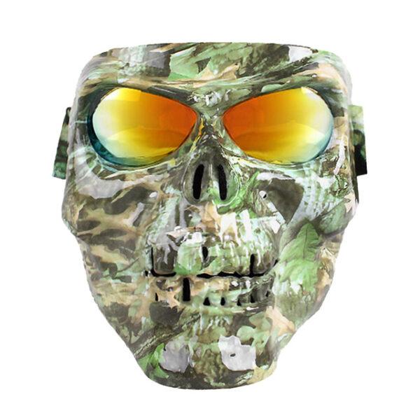 Vintage Skull Motorcycle Glasses Detachable Modular Mask Motorcycle Goggles Mouth Filter Motocross Glasses Moto Helmet