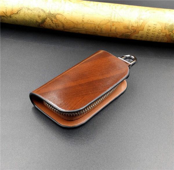 With Car Brand Genuine leather car key case wallet fashion cow leather brand car key holder 1