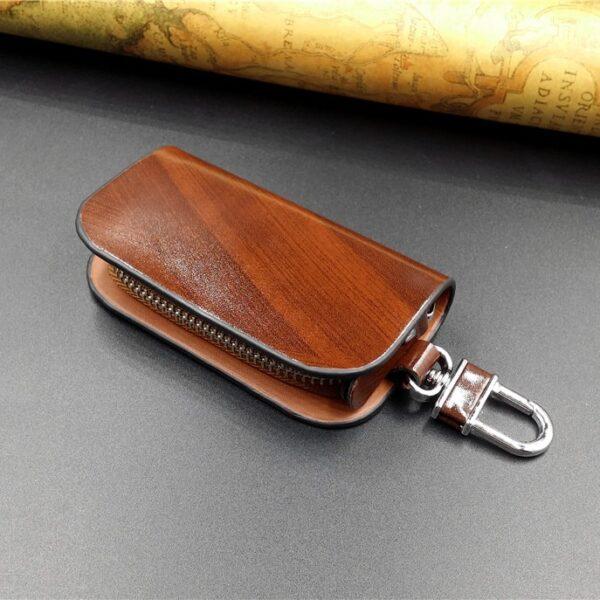 With Car Brand Genuine leather car key case wallet fashion cow leather brand car key holder 2