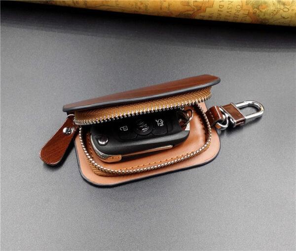 With Car Brand Genuine leather car key case wallet fashion cow leather brand car key holder 3