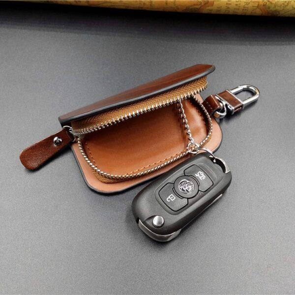 With Car Brand Genuine leather car key case wallet fashion cow leather brand car key holder 4
