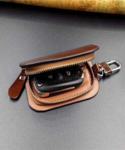 With Car Brand Genuine leather car key case wallet fashion cow leather brand car key holder 8 472x400 1 510x510