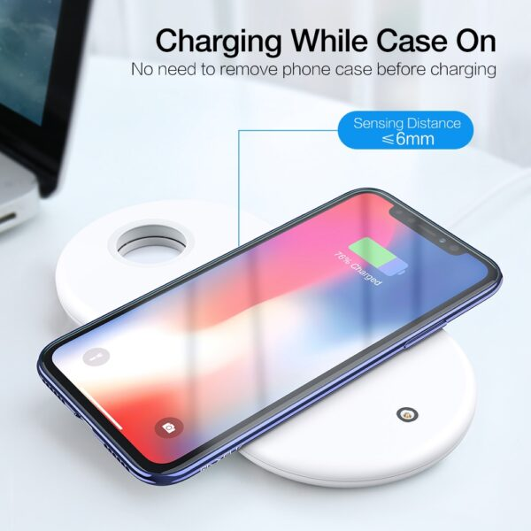 3 in 1 Qi Wireless Charger Plate For iPhone XR XS Max 8 Plus Apple Watch 2