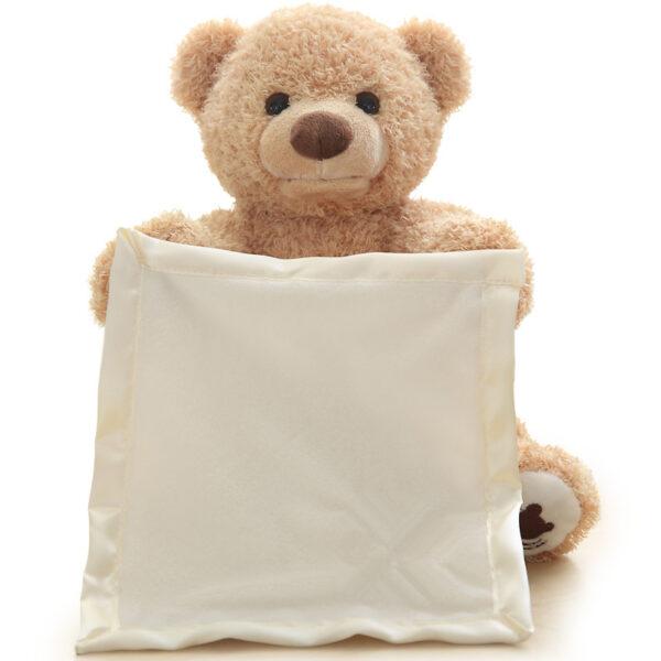 30cm Peek a Boo Teddy Bear Play Hide Seek Lovely Cartoon Stuffed Kids Birthday Xmas Gift 2