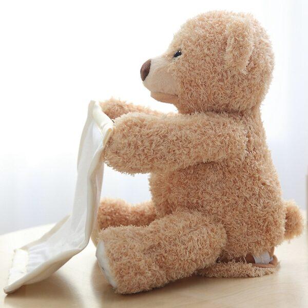 30cm Peek a Boo Teddy Bear Play Hide Seek Lovely Cartoon Stuffed Kids Birthday Xmas Gift 3