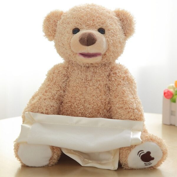 30cm Peek a Boo Teddy Bear Play Hide Seek Lovely Cartoon Stuffed Kids Birthday Xmas Gift 4