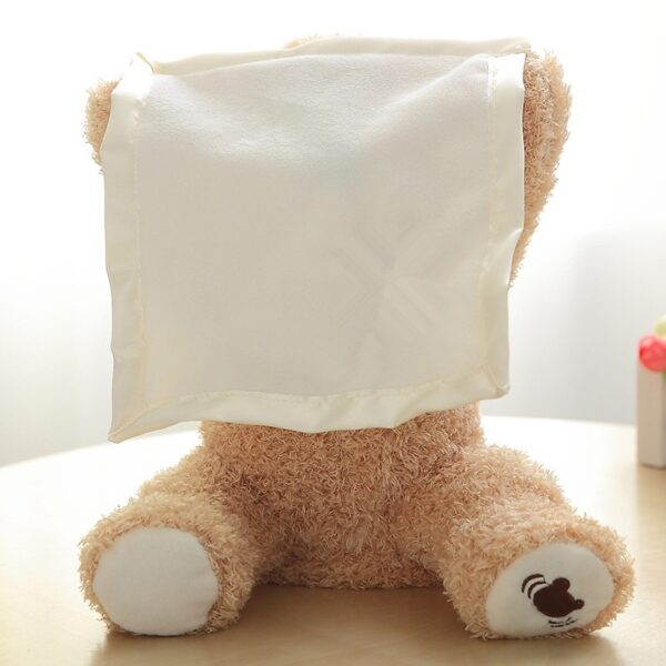 30cm Peek a Boo Teddy Bear Play Hide Seek Lovely Cartoon Stuffed Kids Birthday Xmas Gift