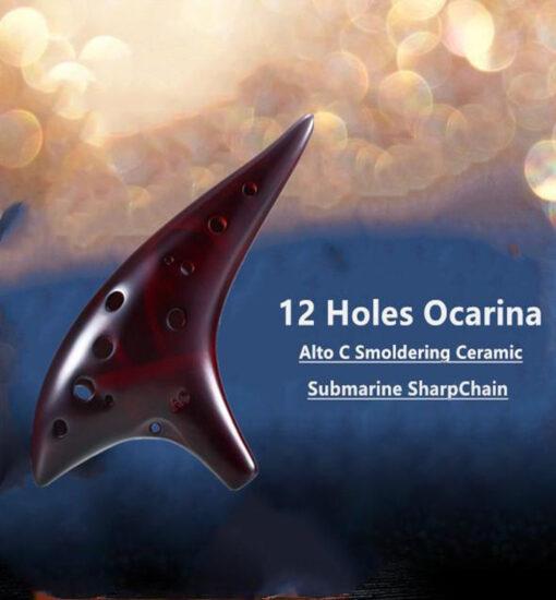Holes Ceramic Ocarina, 12 Holes Ceramic Ocarina