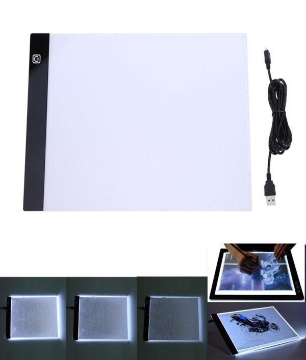 A4 Copyboard animación dibujo acrílico translúcido de luces LED caja de rastreador de
