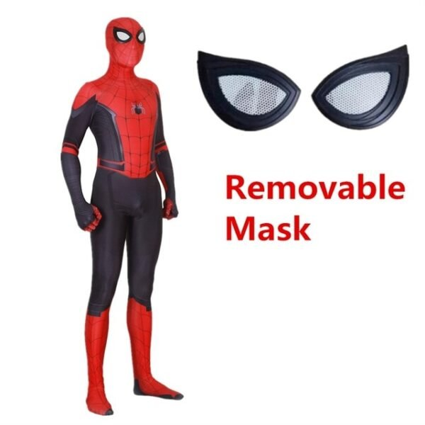 Adult Kids Spider Man Far From Home Peter Parker Cosplay Costume Zentai Spiderman Superhero Bodysuit Suit 2.jpg 640x640 2