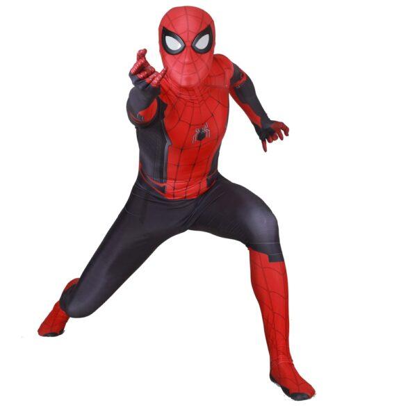 Adult Kids Spider Man Far From Home Peter Parker Cosplay Costume Zentai Spiderman Superhero Bodysuit Suit 4