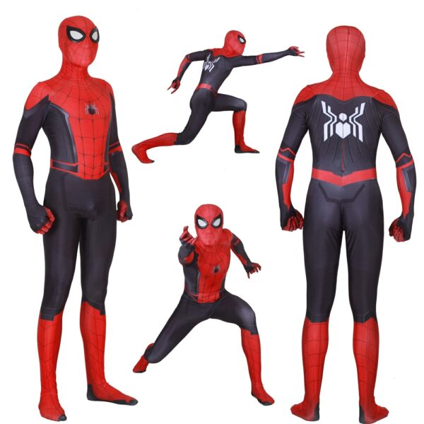 Adult Kids Spider Man Far From Home Peter Parker Cosplay Costume Zentai Spiderman Superhero Bodysuit Suit