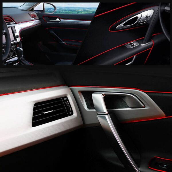 Car Styling 5M pcs Universal DIY Flexible Interior Decoration Moulding Trim Strips Car Central Control and 1