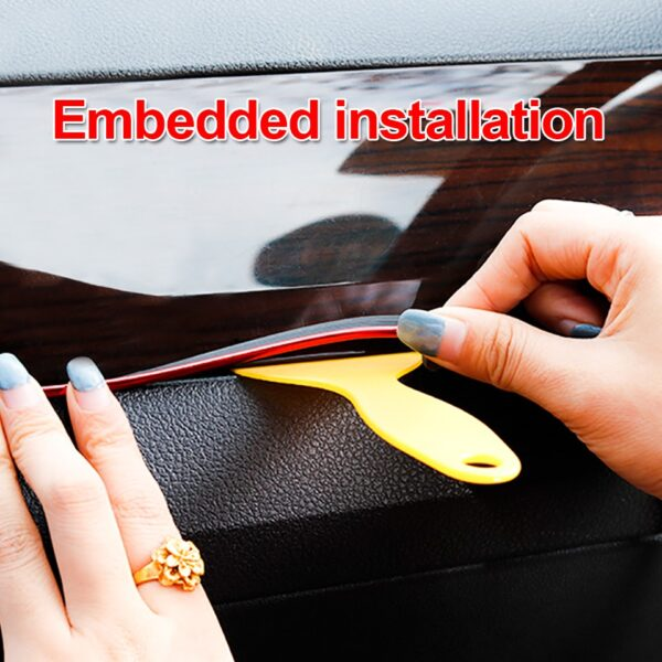 Car Styling 5M pcs Universal DIY Flexible Interior Decoration Moulding Trim Strips Car Central Control and 2