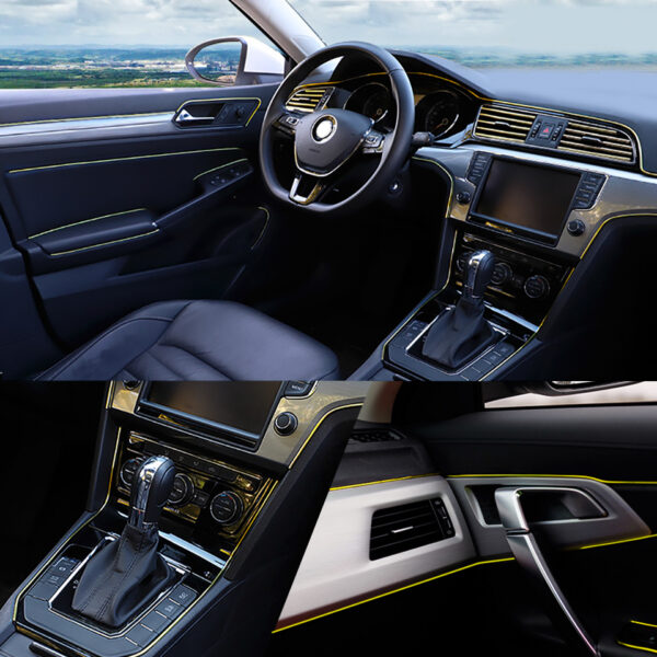 Car Styling 5M pcs Universal DIY Flexible Interior Decoration Moulding Trim Strips Car Central Control and