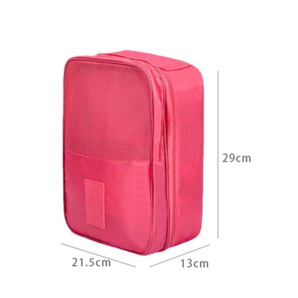 Creative Multi function Large Nylon 6 Colors Portable Travel Organizer Storage Bag for Shoes Toiletries 5