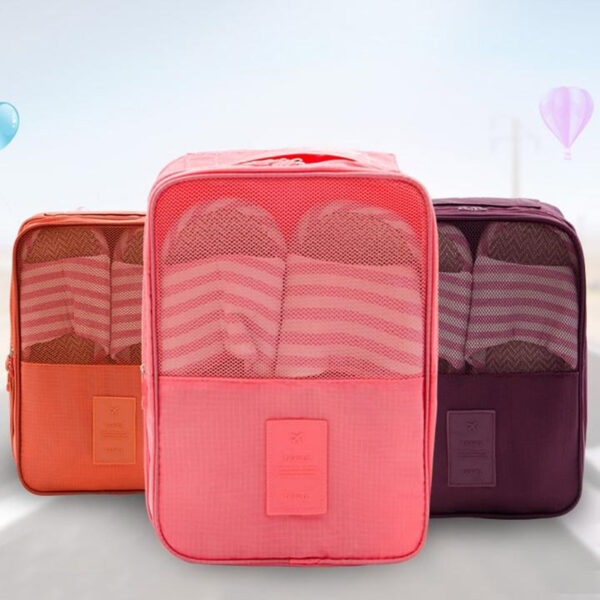 Creative Multi function Large Nylon 6 Colors Portable Travel Organizer Storage Bag for Shoes