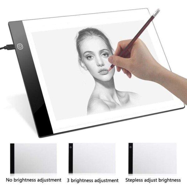 Digital Graphic Tablet A4 LED Artist Thin Art Stencil Drawing Board Light Box Tracing Writing