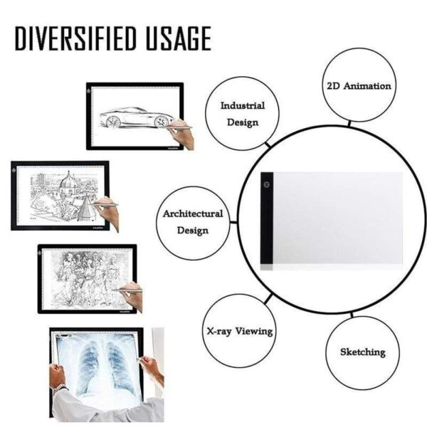 Digital Graphic Tablet A4 LED Artist Thin Art Stencil Drawing Board Light Box Tracing Writing Portable 45bc2e5c 6107 4d42 a5f7