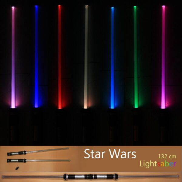 Drop Shipping 2 pcs lot 7 Colors Switched Star Wars Scalable Lightsaber Laser Sword Toys Cosplay